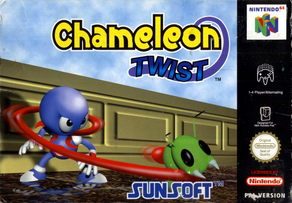 Front boxart of the game Chameleon Twist (Europe) on Nintendo 64