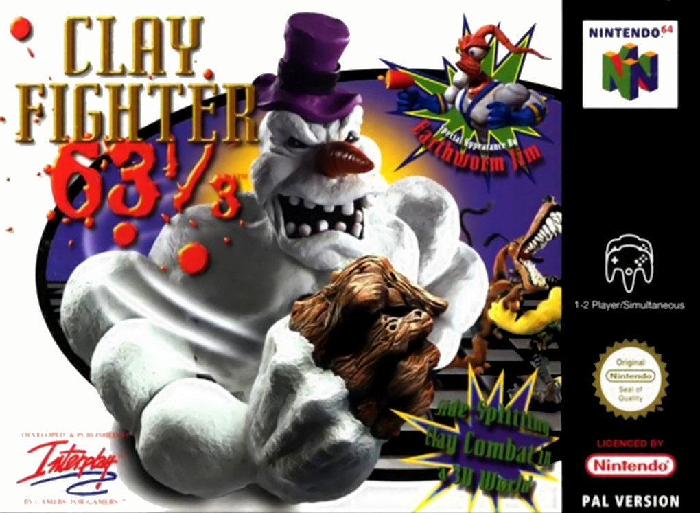 Front boxart of the game Clay Fighter 63 1-3 (Europe) on Nintendo 64