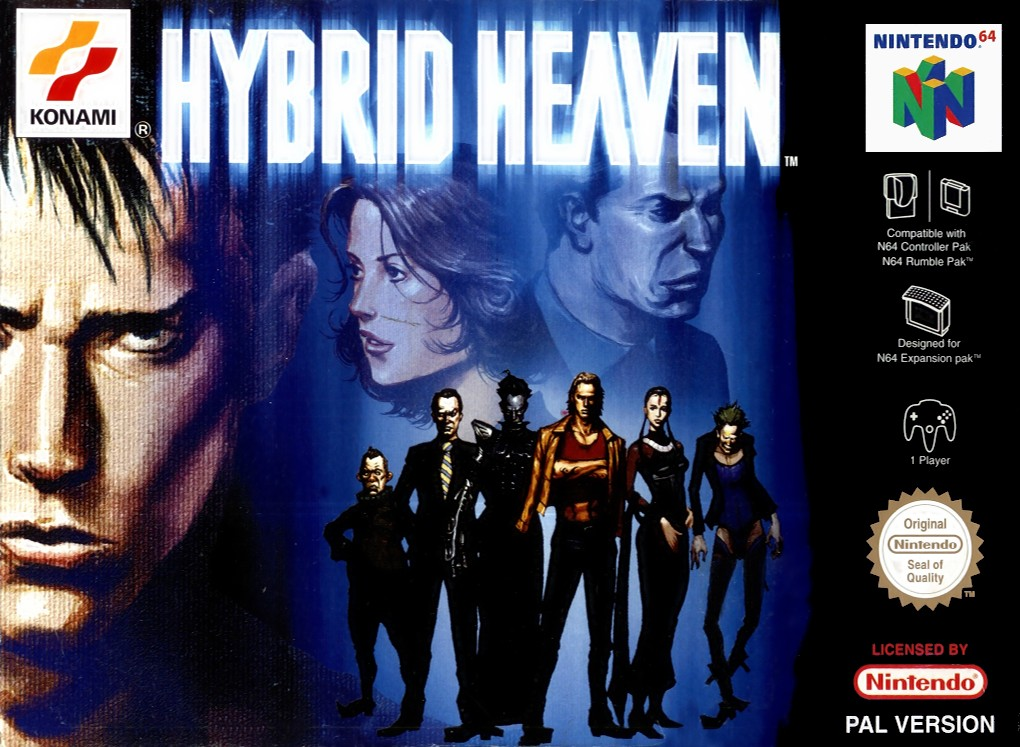 Front boxart of the game Hybrid Heaven (Europe) on Nintendo 64