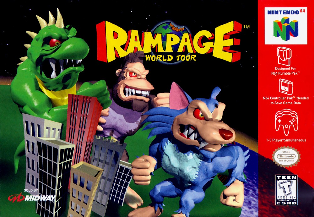 Rampage - World Tour boxarts for Nintendo 64 - The Video