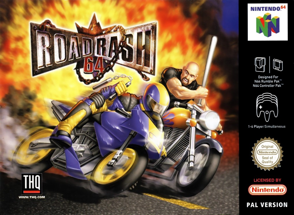 Front boxart of the game Road Rash 64 (Europe) on Nintendo 64