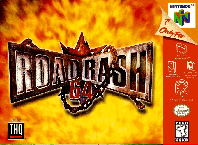 Front boxart of the game Road Rash 64 (United States) on Nintendo 64