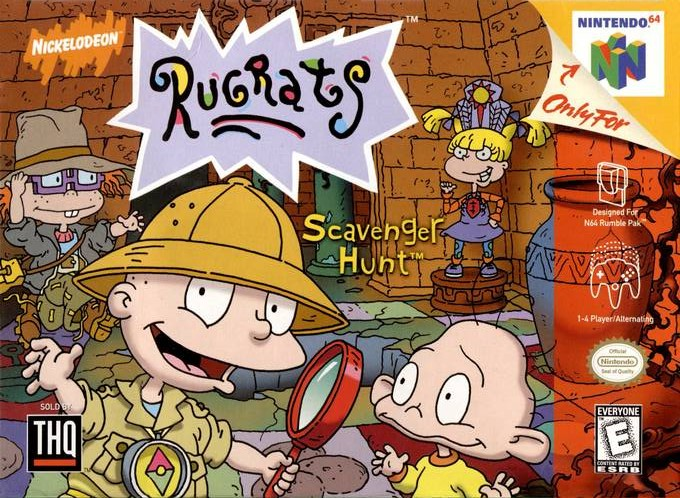 Front boxart of the game Rugrats - Scavenger Hunt (United States) on Nintendo 64