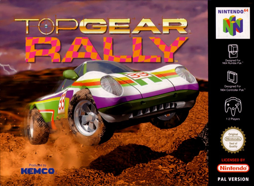 Front boxart of the game Top Gear Rally (Europe) on Nintendo 64