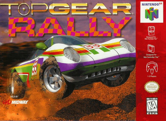 Front boxart of the game Top Gear Rally (United States) on Nintendo 64
