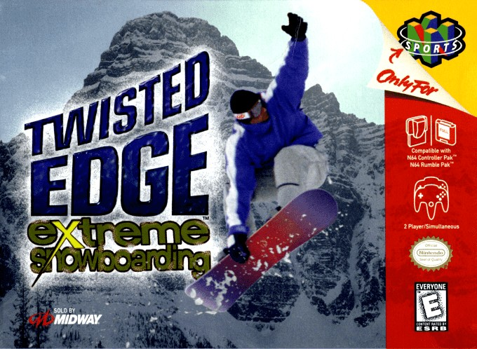 Front boxart of the game Twisted Edge Extreme Snowboarding (United States) on Nintendo 64