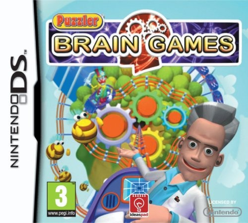 Front boxart of the game Puzzler Brain Games (Europe) on Nintendo DS