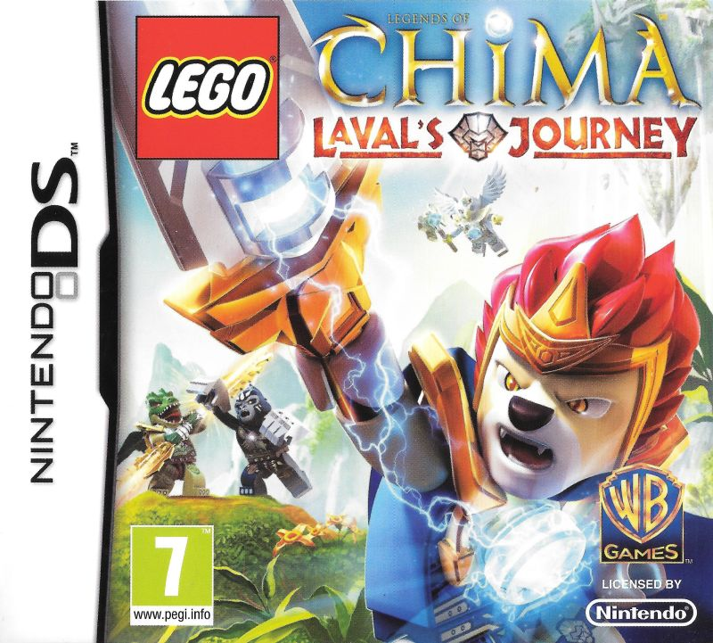 Front boxart of the game LEGO Legends of Chima - Laval's Journey (Europe) on Nintendo DS