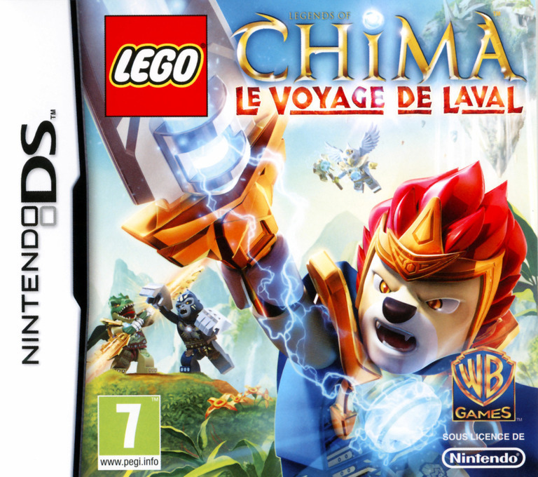 Front boxart of the game LEGO Legends of Chima - Laval's Journey (France) on Nintendo DS