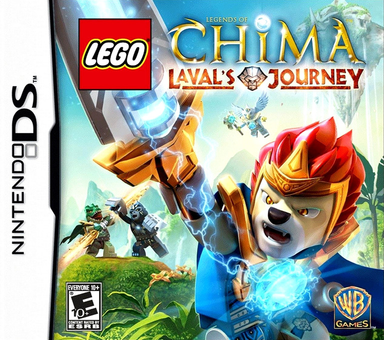 Front boxart of the game LEGO Legends of Chima - Laval's Journey (United States) on Nintendo DS