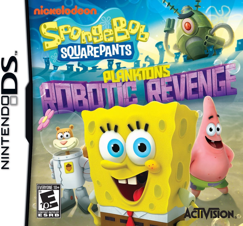 Front boxart of the game SpongeBob SquarePants - Plankton's Robotic Revenge (United States) on Nintendo DS