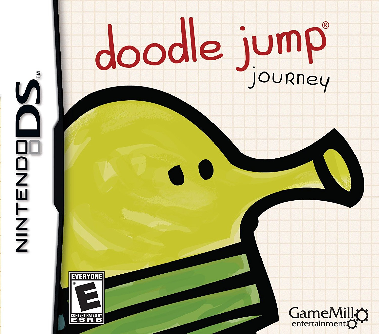 Front boxart of the game Doodle Jump Journey (United States) on Nintendo DS