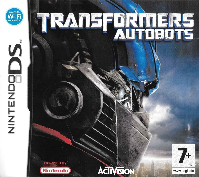 Front boxart of the game Transformers - Ultimate Autobots Edition (Europe) on Nintendo DS