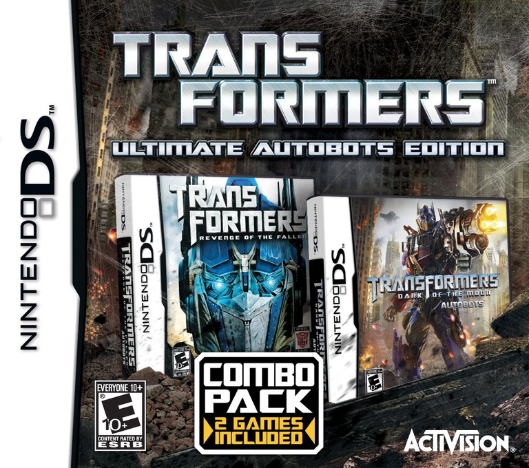 Front boxart of the game Transformers - Ultimate Autobots Edition (United States) on Nintendo DS