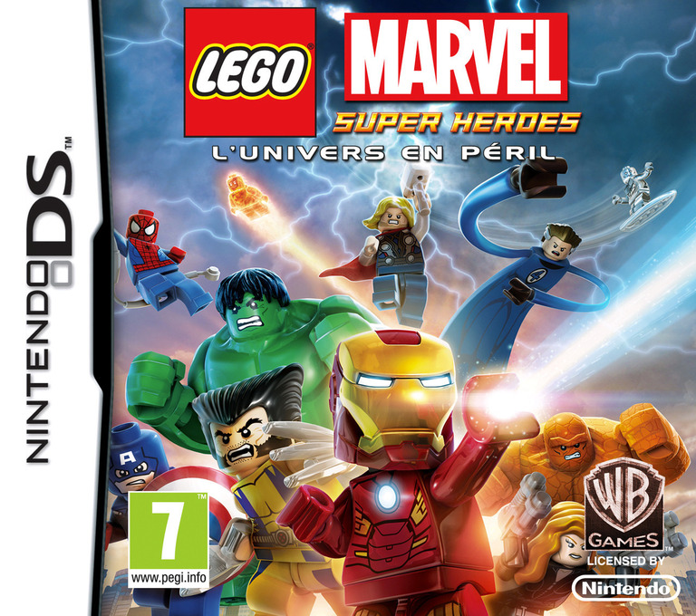 Front boxart of the game LEGO Marvel Super Heroes - Universe in Peril (France) on Nintendo DS