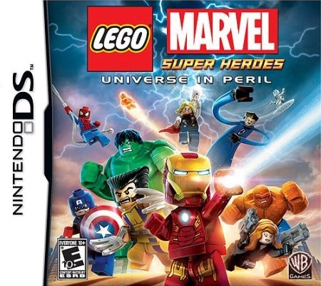 Front boxart of the game LEGO Marvel Super Heroes - Universe in Peril (United States) on Nintendo DS