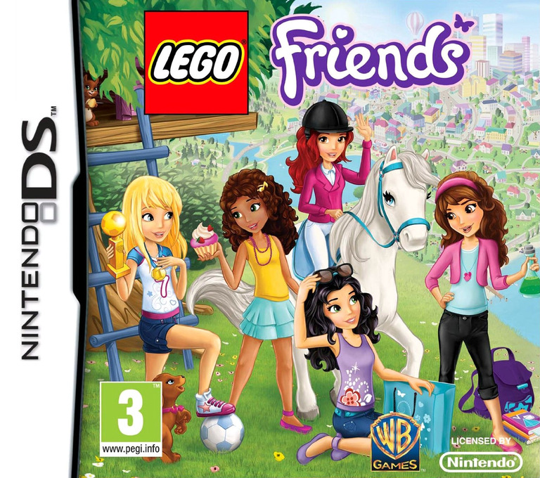 Front boxart of the game LEGO Friends (Europe) on Nintendo DS