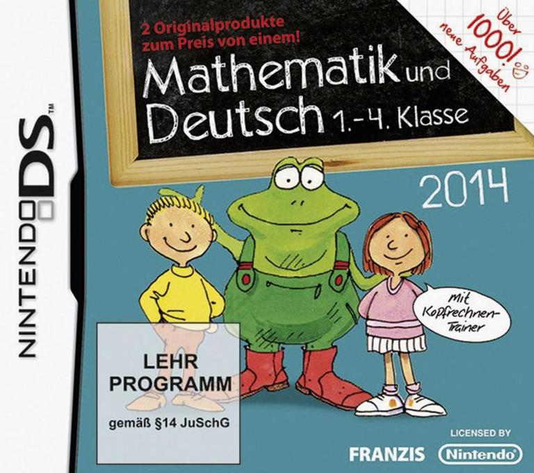 Front boxart of the game Mathematik und Deutsch - 1.-4. Klasse - 2014 (Germany) on Nintendo DS