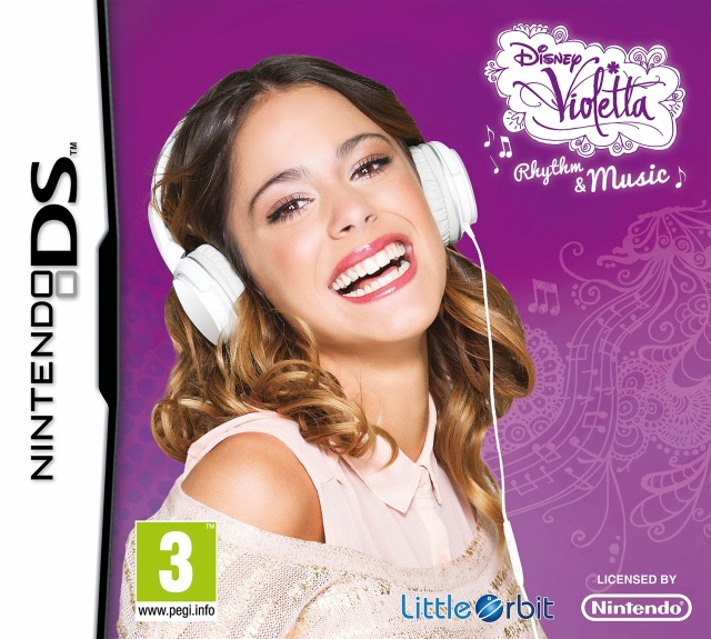 Front boxart of the game Disney Violetta - Rhythm & Music (Europe) on Nintendo DS