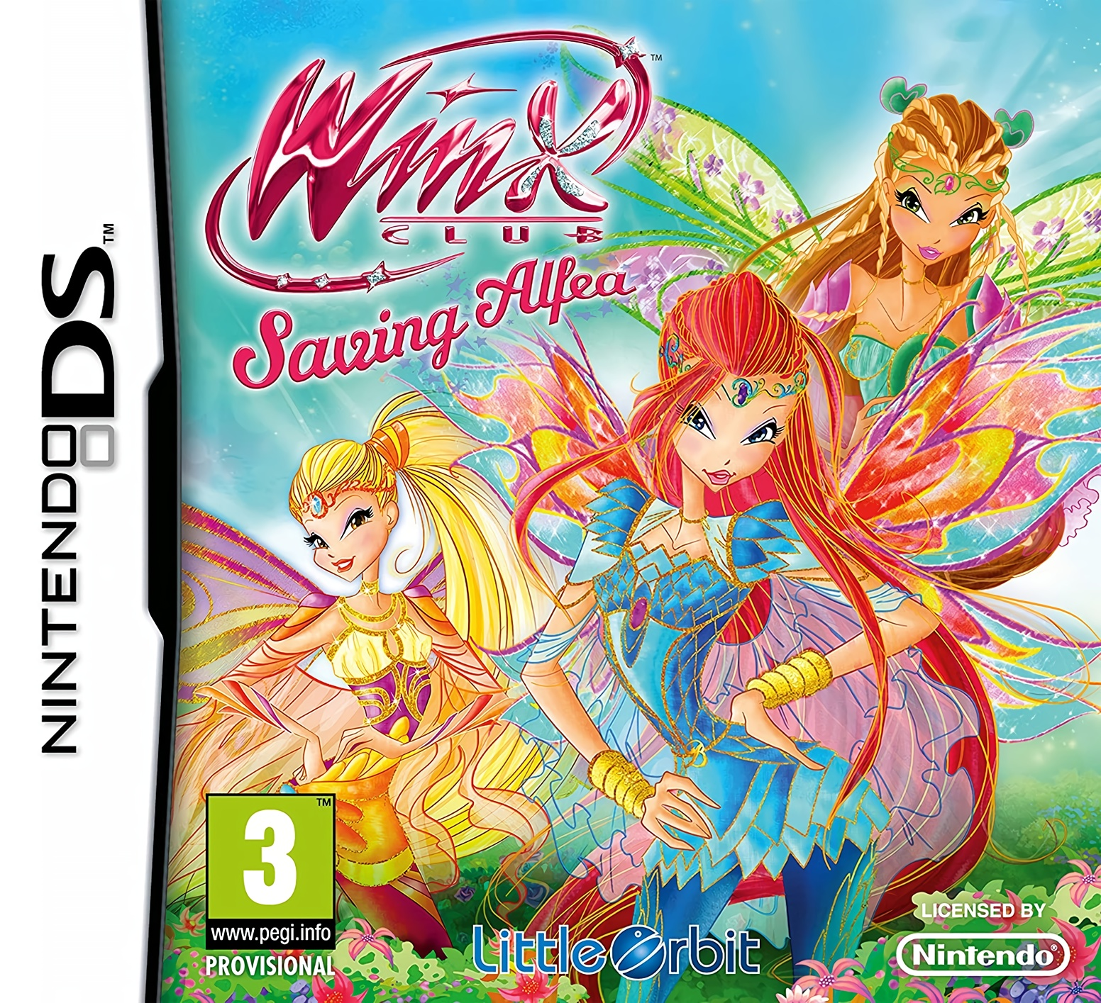 Front boxart of the game Winx Club - Saving Alfea (Europe) on Nintendo DS