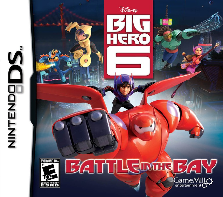Front boxart of the game Disney Big Hero 6 - Battle in the Bay (United States) on Nintendo DS