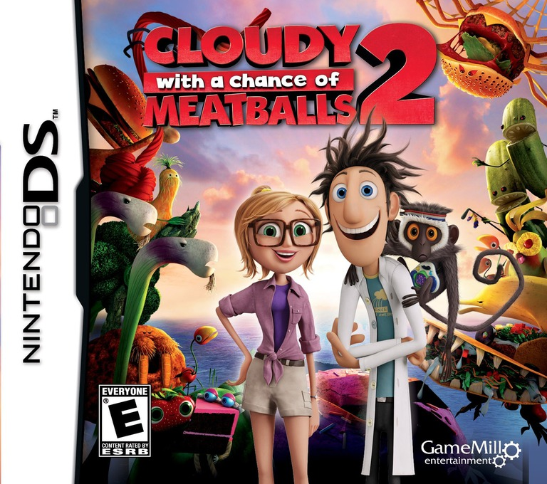 Front boxart of the game Cloudy with a Chance of Meatballs 2 (United States) on Nintendo DS