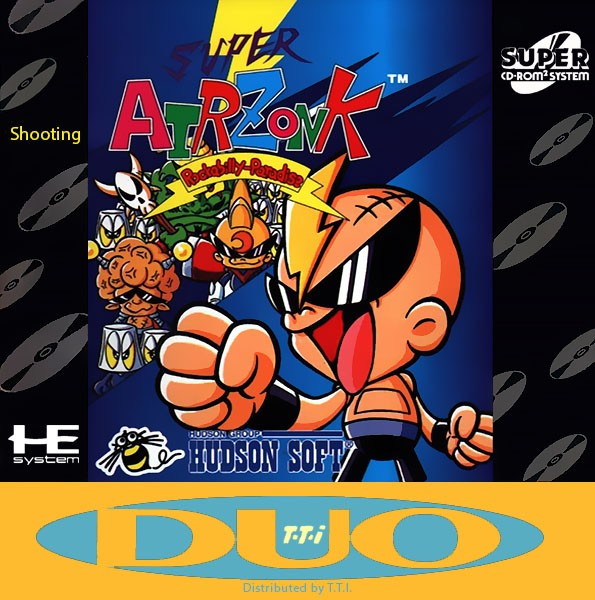 Front boxart of the game CD Denjin Rockabilly Tengoku (United States) on NEC PC Engine CD