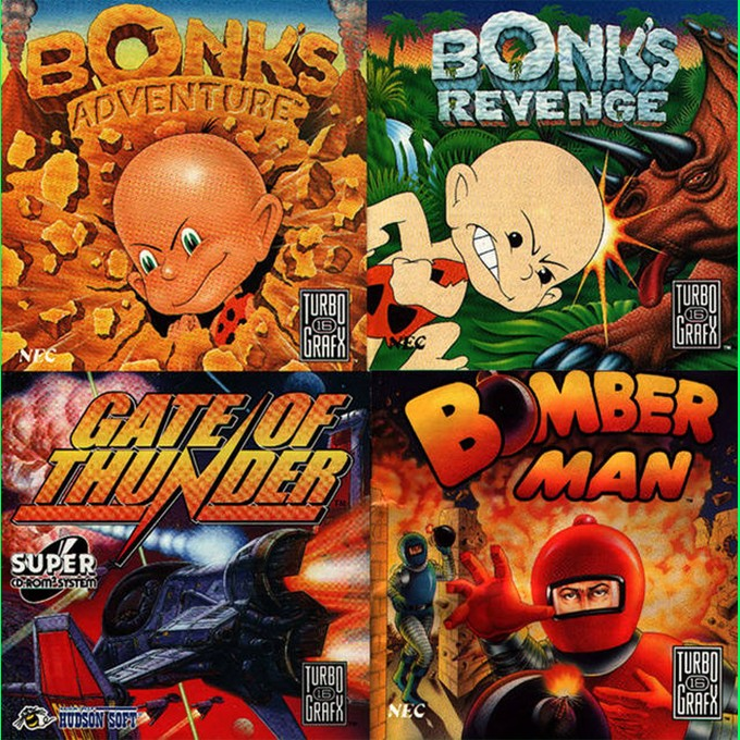 Front boxart of the game 4 in 1 Super CD (United States) on NEC PC Engine CD