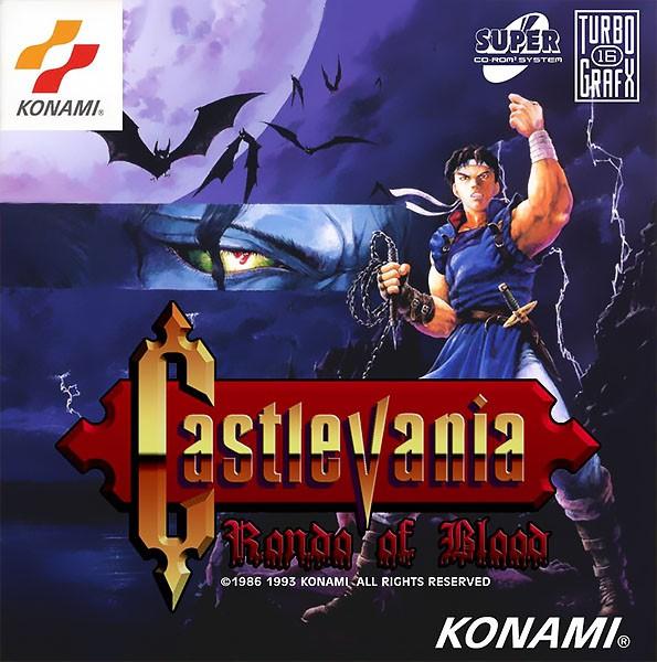 Front boxart of the game Akumajou Dracula X - Chi No Rondo (United States) on NEC PC Engine CD
