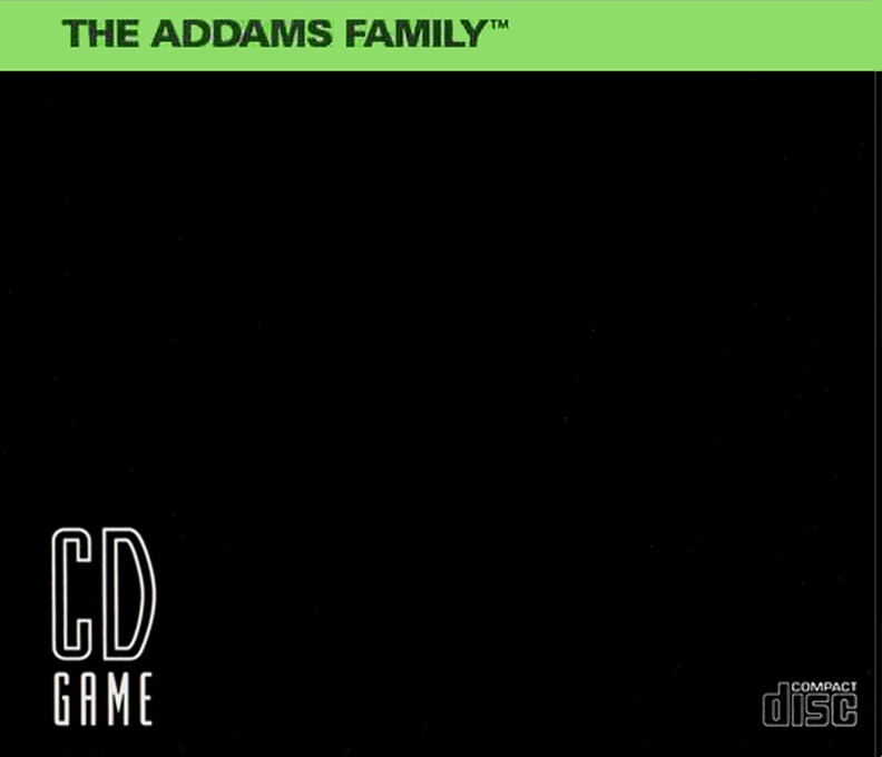 Back boxart of the game Addams Familly, The (United States) on NEC PC Engine CD