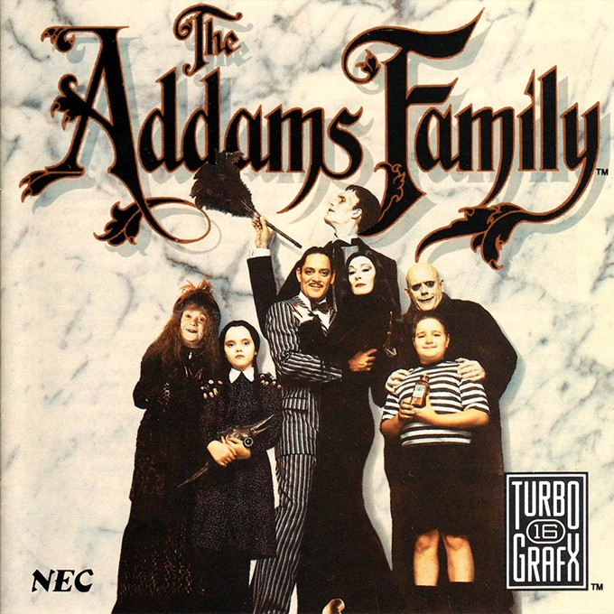 Front boxart of the game Addams Familly, The (United States) on NEC PC Engine CD