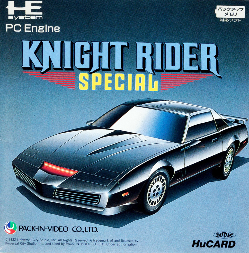 Front boxart of the game Knight Rider Special (Japan) on NEC PC Engine