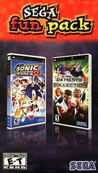 Front boxart of the game Sega Fun Pack - Sonic Rivals 2 / Genesis Collection (United States) on Sony PSP