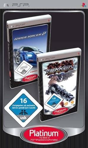Front boxart of the game Tekken - Dark Resurrection / Ridge Racer 2 (Europe) on Sony PSP
