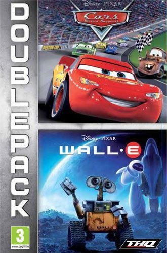 Front boxart of the game Double Pack - Cars + WALL-E (Europe) on Sony PSP