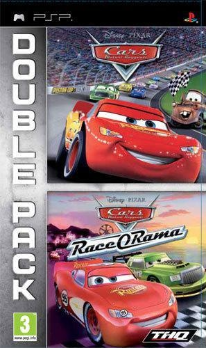 Front boxart of the game Double Pack - Cars + Cars - Race-O-Rama (Europe) on Sony PSP