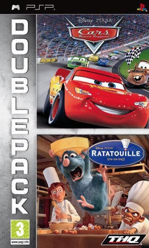 Front boxart of the game Double Pack - Cars + Ratatouille (Europe) on Sony PSP