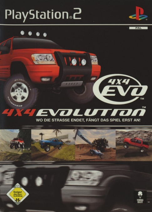 Front boxart of the game 4X4 Evolution (Germany) on Sony Playstation 2