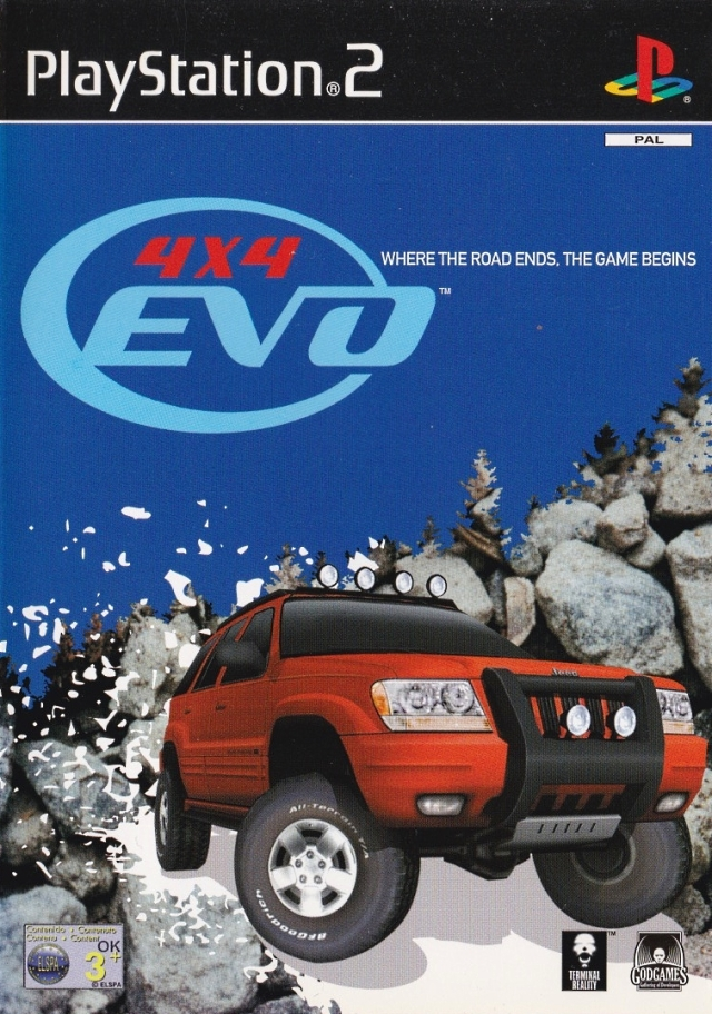 Front boxart of the game 4X4 Evolution (Europe) on Sony Playstation 2