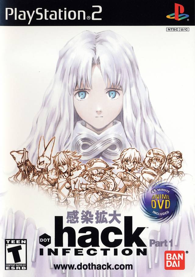 Front boxart of the game .hack//Infection Part 1 (United States) on Sony Playstation 2