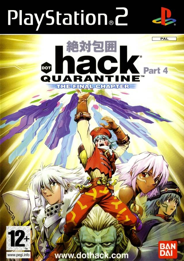 Front boxart of the game .hack//Quarantine Part 4 (Europe) on Sony Playstation 2