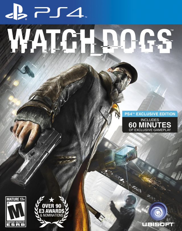 Front boxart of the game Watch Dogs (United States) on Sony Playstation 4