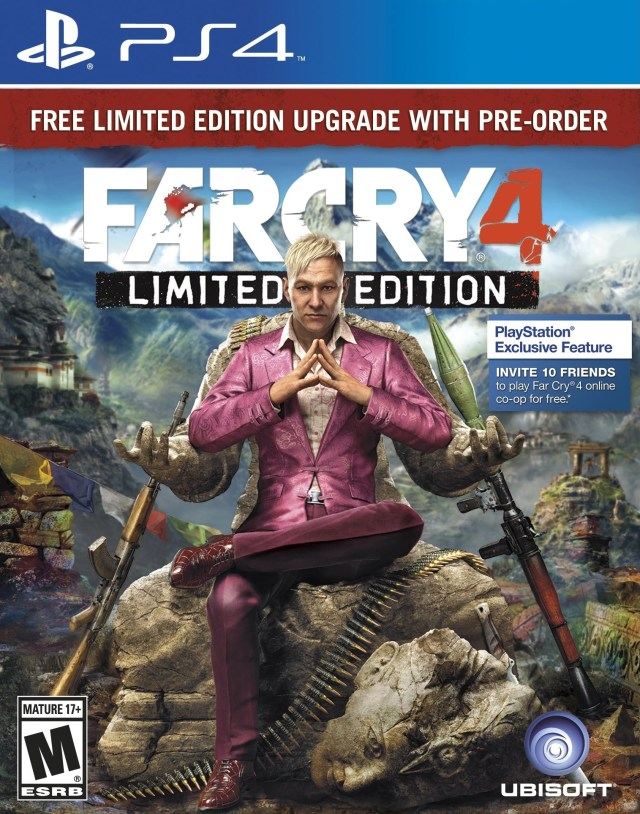 Front boxart of the game Far Cry 4 (United States) on Sony Playstation 4