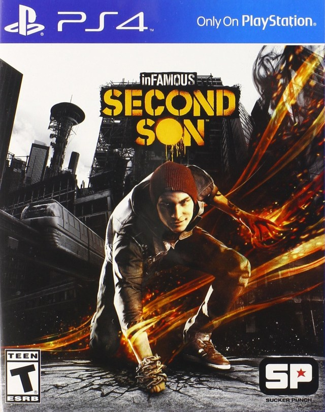 Front boxart of the game inFamous - Second Son (United States) on Sony Playstation 4