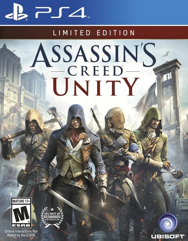 Front boxart of the game Assassin's Creed Unity (United States) on Sony Playstation 4