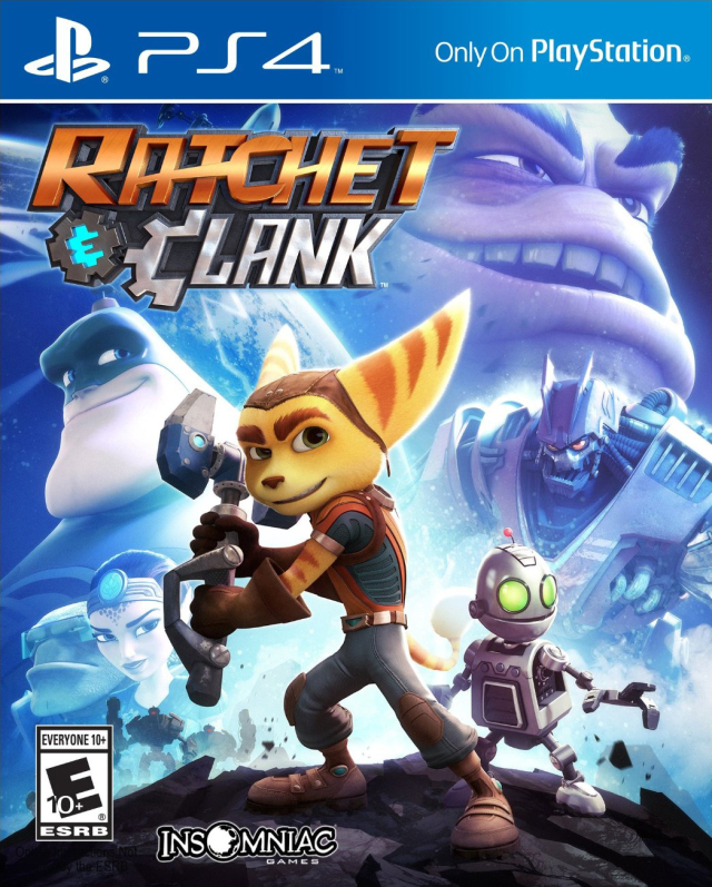Front boxart of the game Ratchet & Clank (United States) on Sony Playstation 4