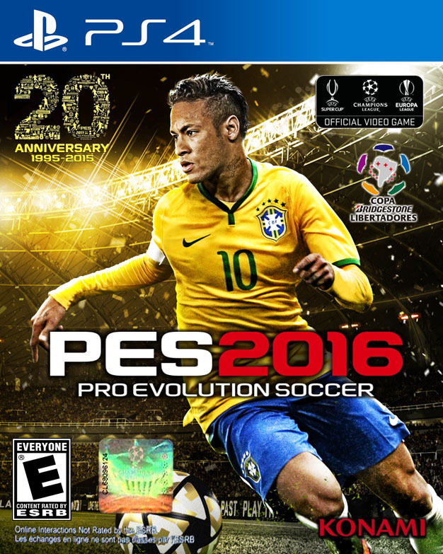 Front boxart of the game Pro Evolution Soccer 2016 (United States) on Sony Playstation 4