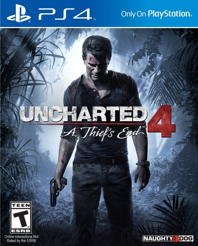 Front boxart of the game Uncharted 4 - A Thief's End on Sony Playstation 4