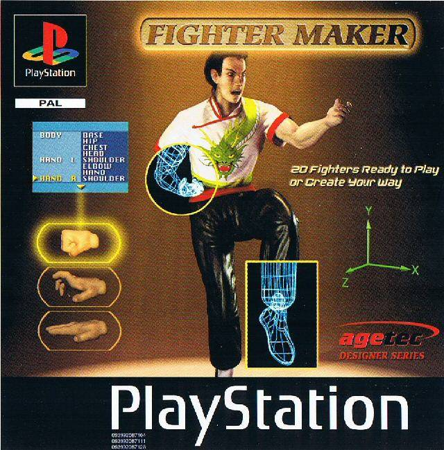 Front boxart of the game Fighter Maker (Europe) on Sony Playstation