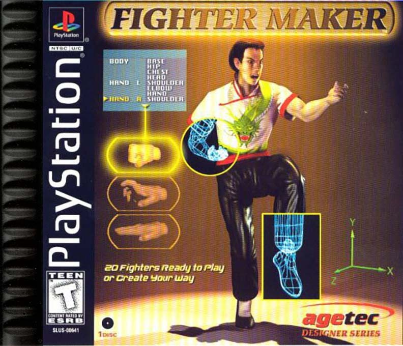 Front boxart of the game Fighter Maker (United States) on Sony Playstation